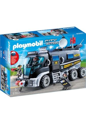 """Playmobil® Konstruktions - Spielset """"SEK - Truck mit Licht und Sound (9360), City Action"""", Kunststoff kaufen"""