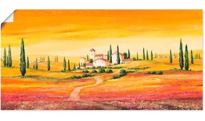 Artland Wandbild »Traumhafte toskanische Landschaft«, Europa, (1 St.), in vielen... kaufen