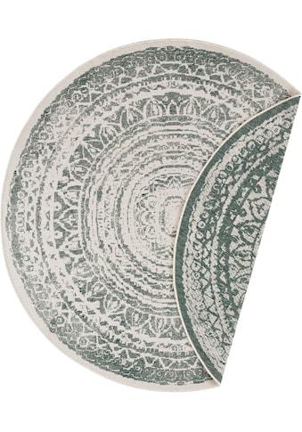 freundin Home Collection Teppich »Rosica«, rund, 5 mm Höhe, Wendeteppich, In- und Outdoor geeignet, Wohnzimmer kaufen