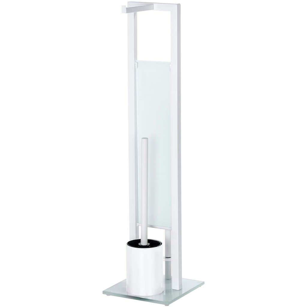 WENKO WC-Garnitur »Rivalta«, integrierter Toilettenpapierhalter und WC-Bürstenhalter