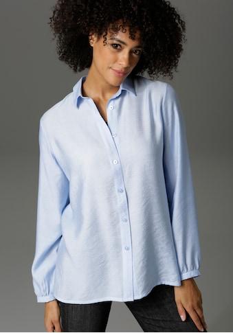 Aniston CASUAL Hemdbluse, in Leinenoptik kaufen