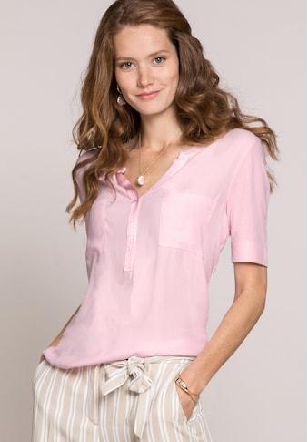 bianca Blusenshirt »TILLA«, mit santiniertem Ripsbandeinsatz am V-Ausschnitt kaufen
