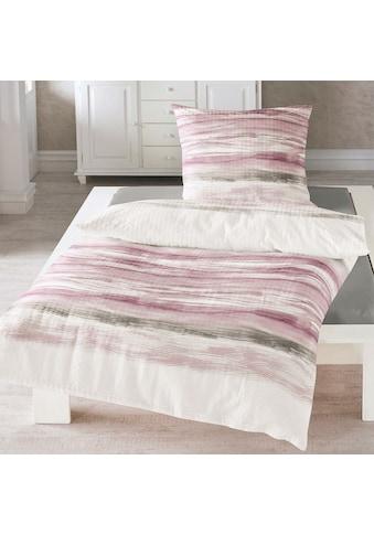 TRAUMSCHLAF Bettwäsche »Wellen rosa«, bügelfreie Sommer Qualität kaufen