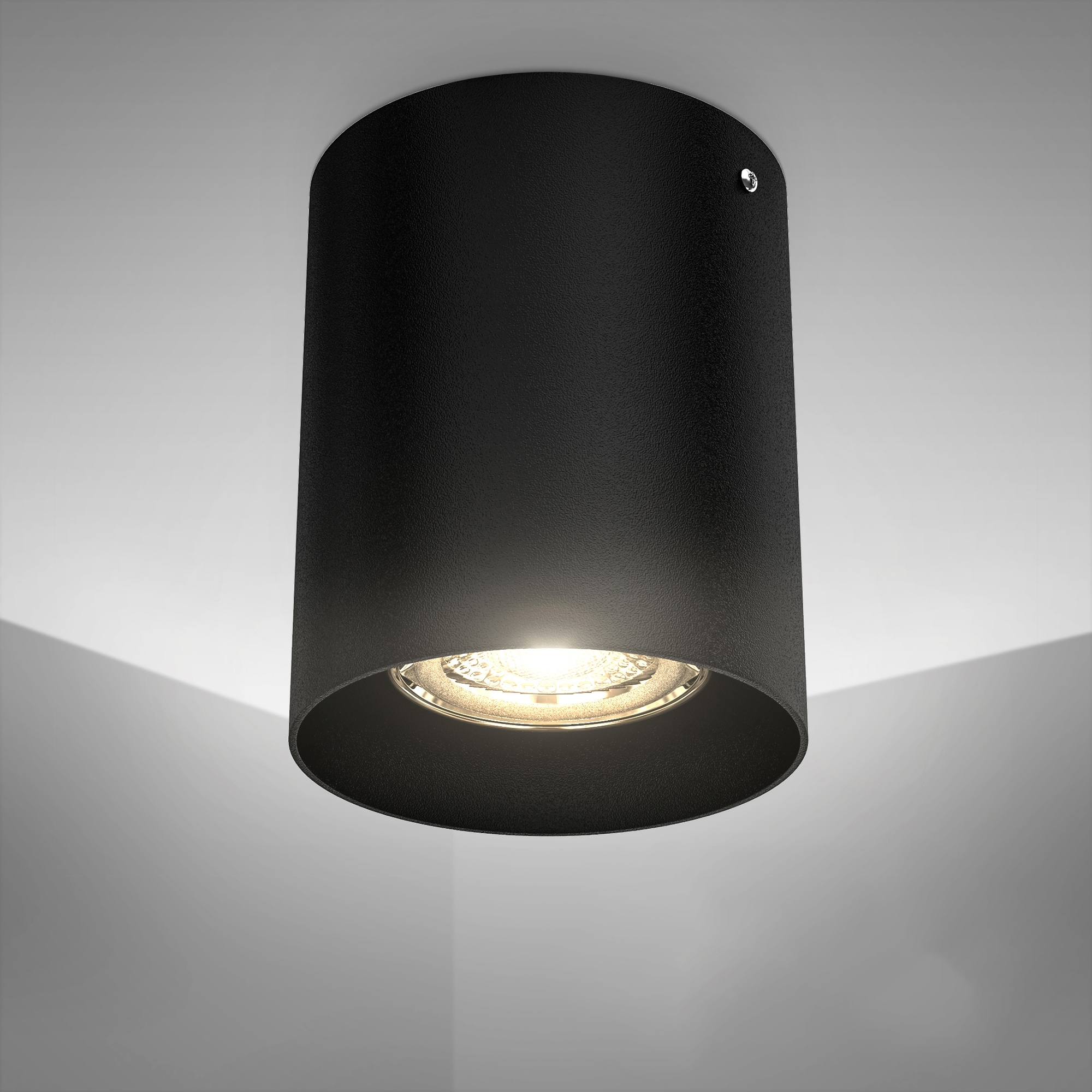 B.K.Licht Aufbauleuchte, GU10, LED Deckenspot Aufbaulampe Strahler Downlight Deckenlampe schwarz metall GU10