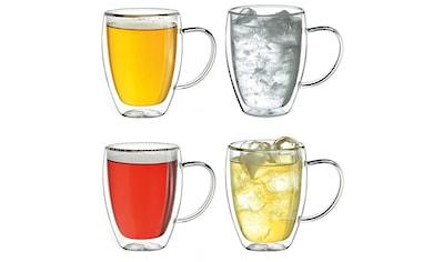 Creano Thermoglas, (Set, 4 tlg., 4er Set), mit Henkel, 400 ml, 4-teilig kaufen