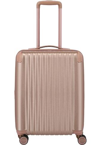 TITAN® Hartschalen-Trolley »BARBARA & TITAN®, Barbara Glint 55 cm, Rose Metallic«, 4 Rollen, mit Dehnfalte kaufen