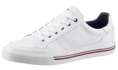 TOMMY HILFIGER Sneaker »CORE COPORATE LEATHER SNEAKER«, mit Streifen in der Laufsohle kaufen
