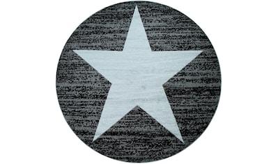 Paco Home Teppich »Fiesta 116«, rund, 12 mm Höhe, Kurzflor mit Stern Motiv kaufen