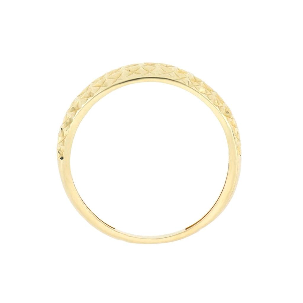 Firetti Goldring »mit toller Oberfläche, glänzend, Ringkopf spiegeldiamantiert«