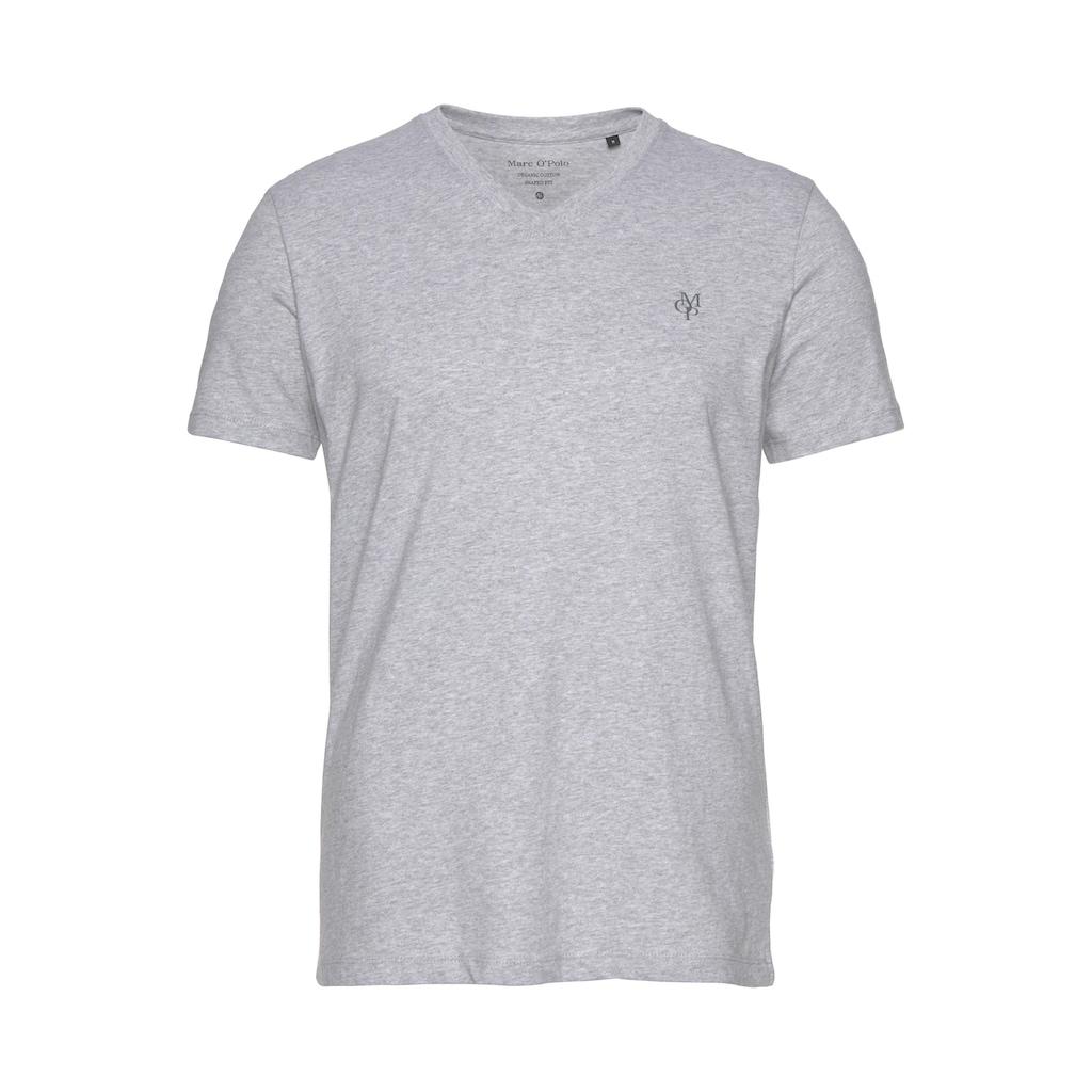Marc O'Polo T-Shirt, ideal zum Unterziehen, V-Ausschnitt
