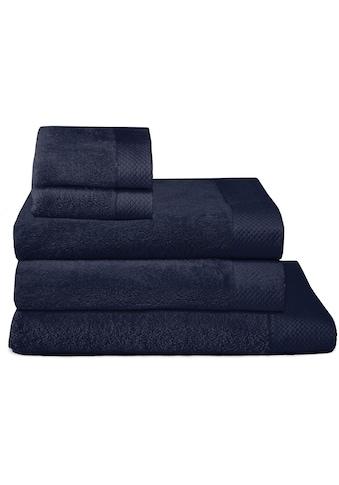 Seahorse Handtuch Set »Pure«, mit Strukturbordüre kaufen