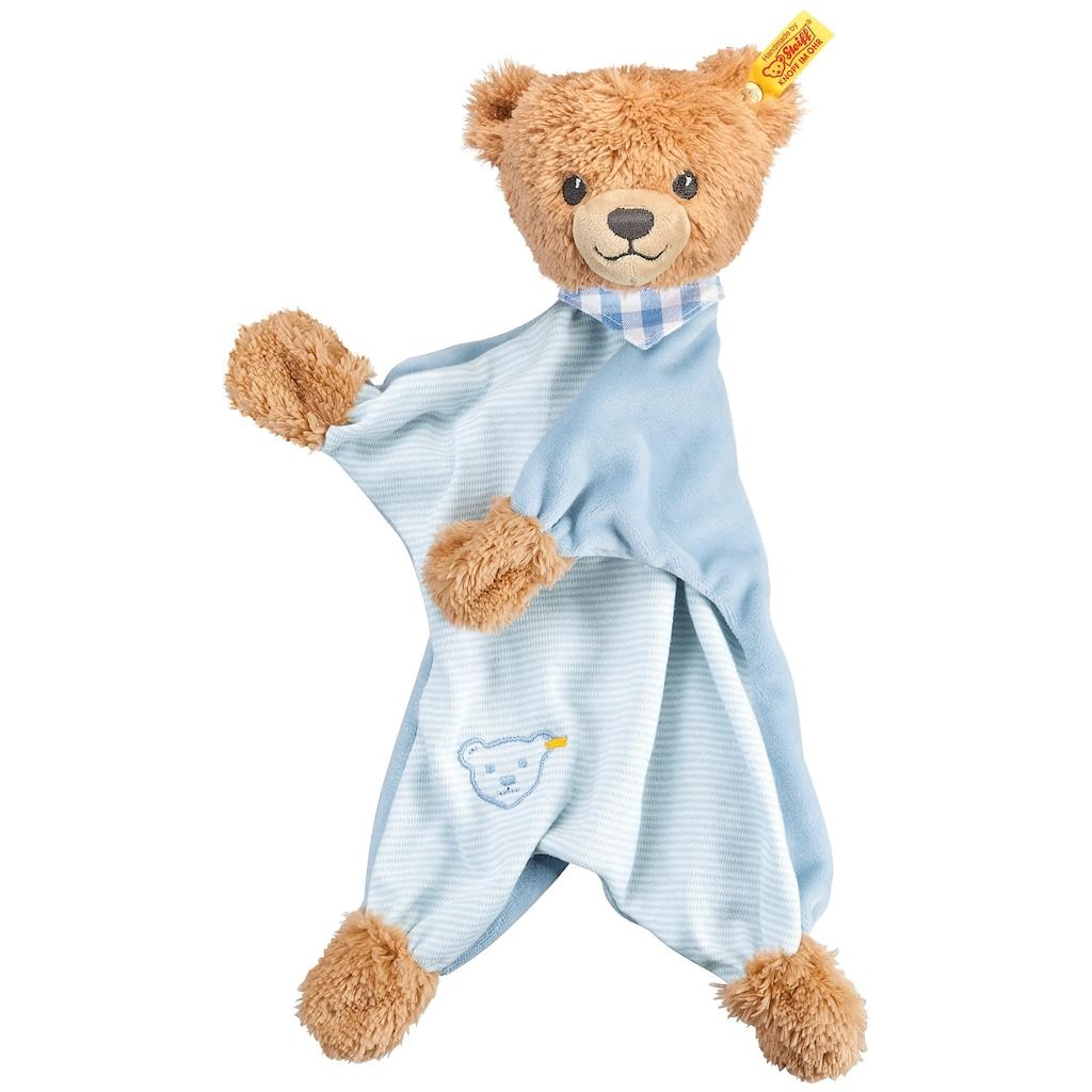 Steiff Schmusetuch »Schlaf-gut-Bär Schmusetuch, blau«, mit gestickten Augen und »Knopf im Ohr«