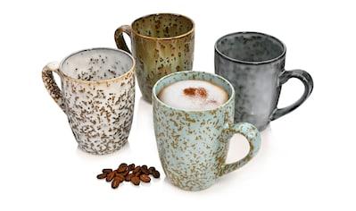 SÄNGER Becher »Athen«, (4 tlg., Kaffeebecher Athen aus Steingut 4 teilig) kaufen