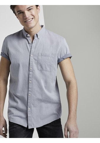 TOM TAILOR Denim Kurzarmhemd »Strukturiertes Kurzarmhemd mit Brusttasche« kaufen