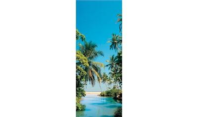 Papermoon Fototapete »Palm Logoon - Türtapete«, matt, Vlies, 2 Bahnen, 90 x 200 cm kaufen