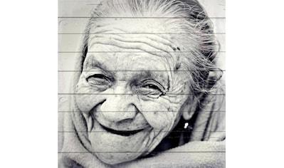 Home affaire Holzbild »Gesicht einer alten Frau« kaufen