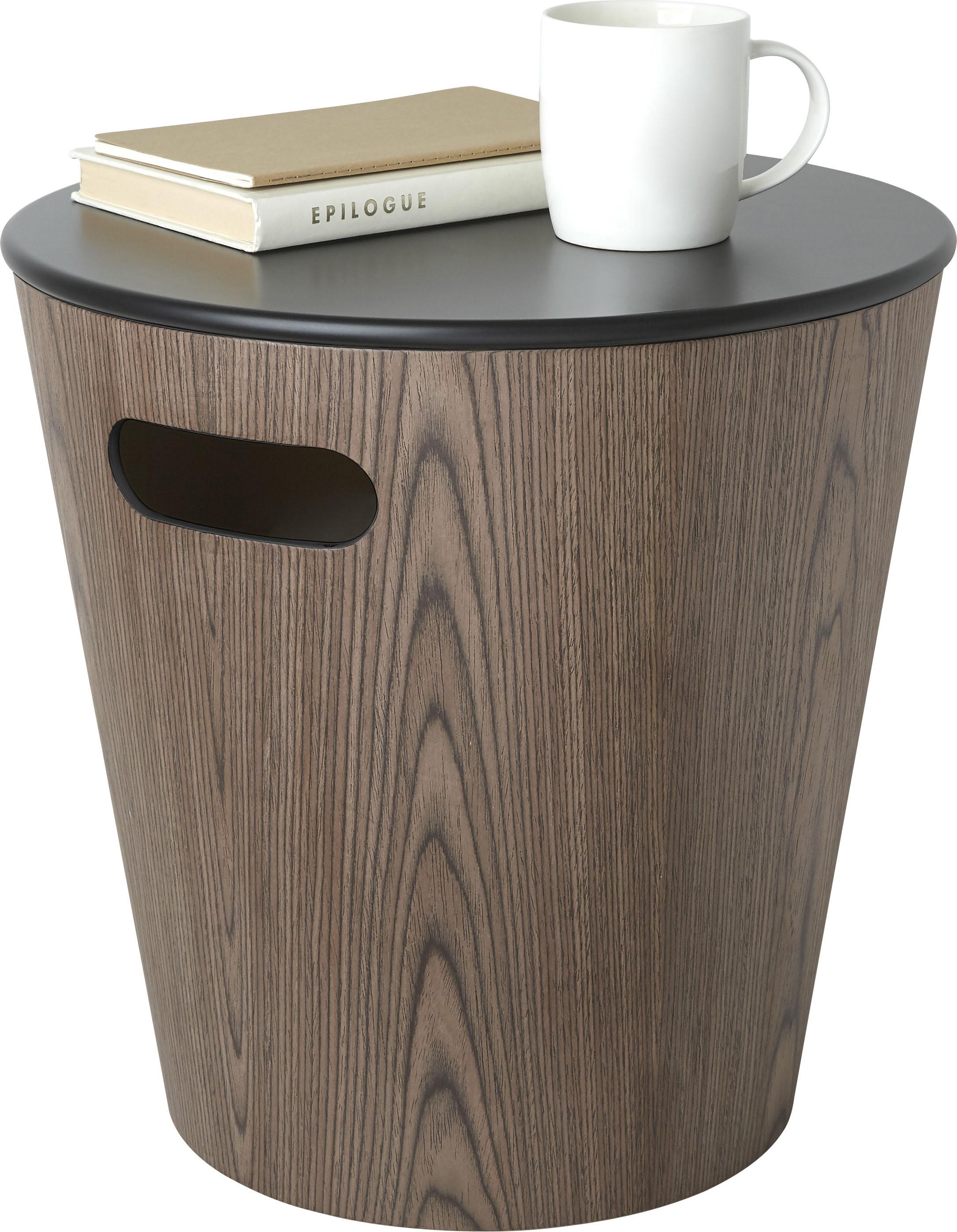 Umbra Ablagetisch Woodrow Storage Stool Wohnen/Räume/Wohnzimmer/Couchtische & Beistelltische/Beistelltische