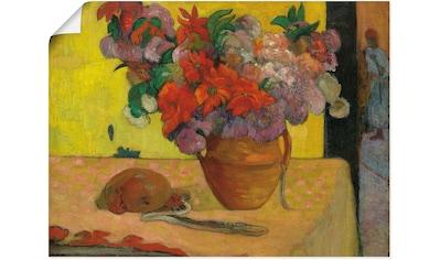 Artland Wandbild »Blumen in Vase und eine Feldflasche« kaufen