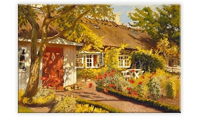 Wall - Art Leinwandbild »Olaf Viggo Peter Langer  -  Das Gartenhaus« kaufen
