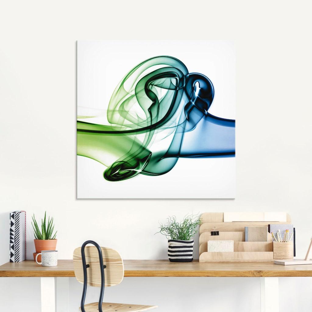 Artland Glasbild »Aufeinanderprallen von Farben«, Muster, (1 St.)