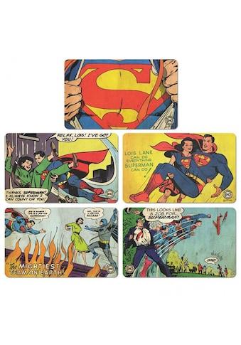 LOGOSHIRT Frühstücksbrettchen im 5er-Set mit Superman-Print kaufen