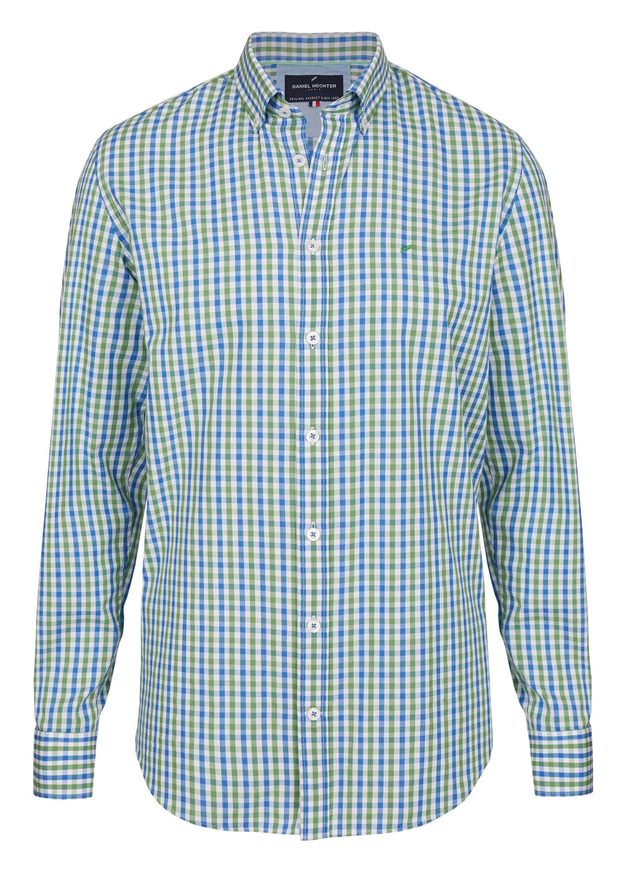 Daniel Hechter Sportives Freizeithemd mit Karo | Bekleidung > Hemden > Freizeithemden | Grün | Jeans - Baumwolle | DANIEL HECHTER