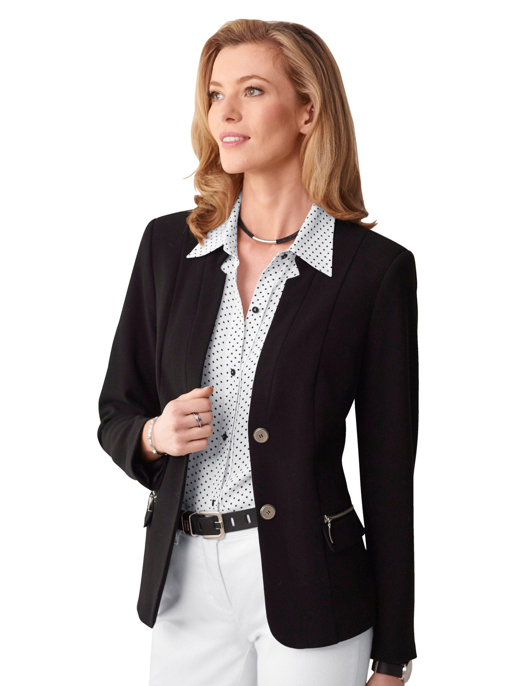 mona blazer in knitterarmer ganzjahres qualit t auf. Black Bedroom Furniture Sets. Home Design Ideas
