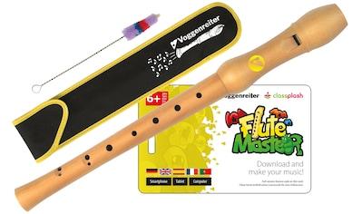 Voggenreiter Blockflöte Flute Master (Lernsoftware) mit Blockflöte, barocke Griffweise, (Barock) kaufen