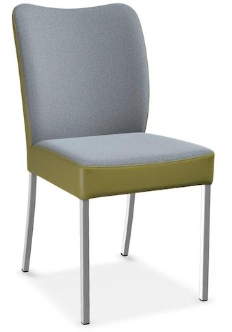 bert plantagie Stuhl »DUO«, 2-Set in Bi-Color, Stoff-Leder, Future/Tendens kaufen