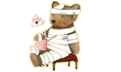 Wall-Art Wandtattoo »Gute Besserung kleiner Teddy« kaufen
