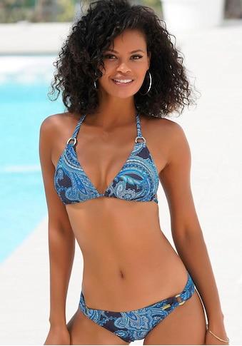 LASCANA Triangel-Bikini-Top »Boho«, mit Paisleymuster und Zierringen kaufen