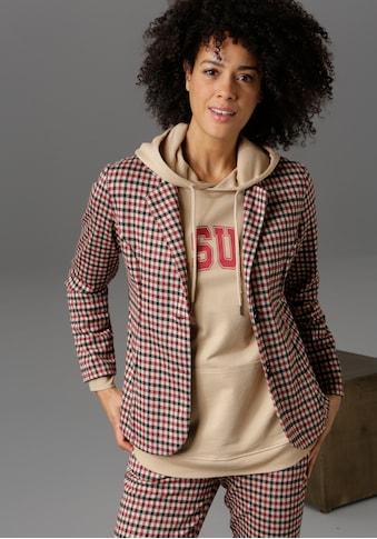 Aniston CASUAL Sweatblazer, im Karo-Dessin - NEUE KOLLEKTION kaufen