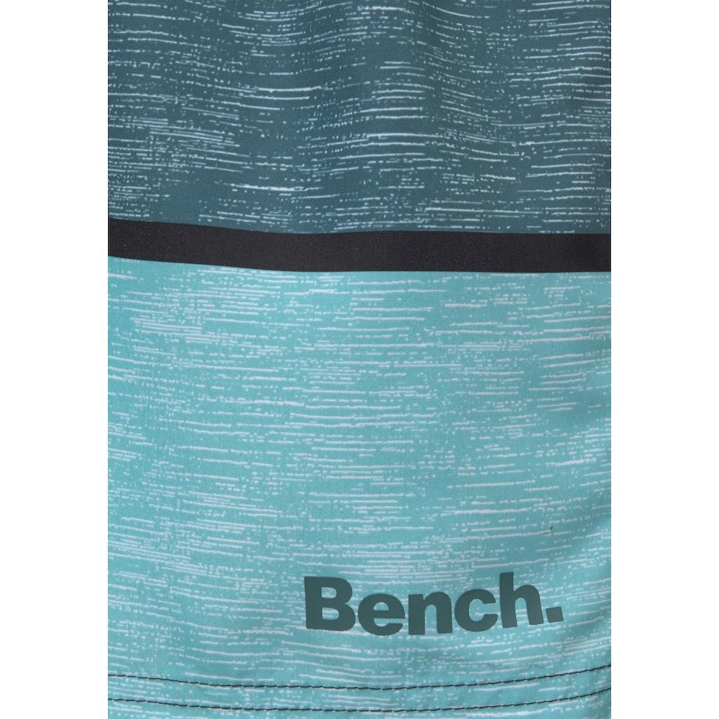 Bench. Badeshorts, mit Melangeoptik
