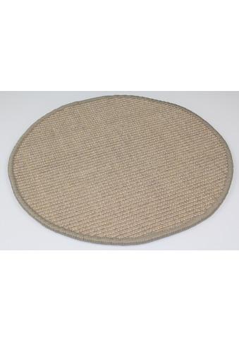 Dekowe Sisalteppich »Mara S2, gekettelt«, rund, 5 mm Höhe, Flachgewebe, Obermaterial: 100% Sisal, Wunschmaß, Wohnzimmer kaufen