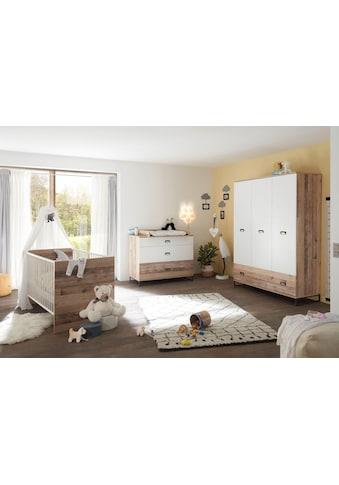Babyzimmer-Komplettset »Ronny«, (Set, 3 tlg.), Bett + Wickelkommode + 3-trg. Schrank kaufen
