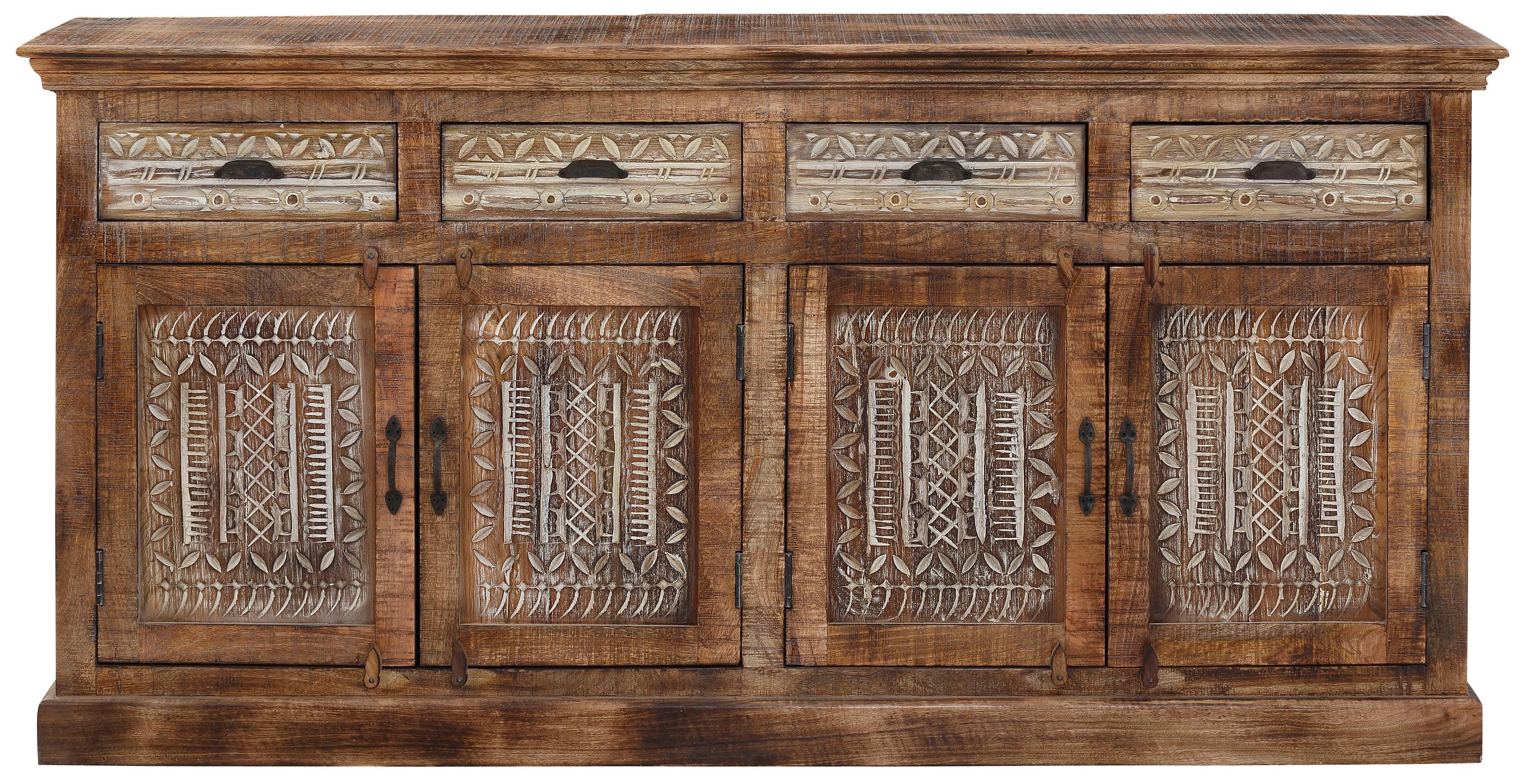 Home affaire Sideboard Maneesh aus massivem Mangoholz mit vielen Stauraummöglichkeiten Breite 179 cm