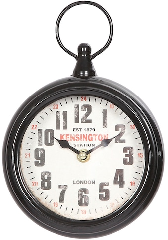 Ambiente Haus Wanduhr »Wand-Taschenuhr aus metall 23cm schwarz« kaufen