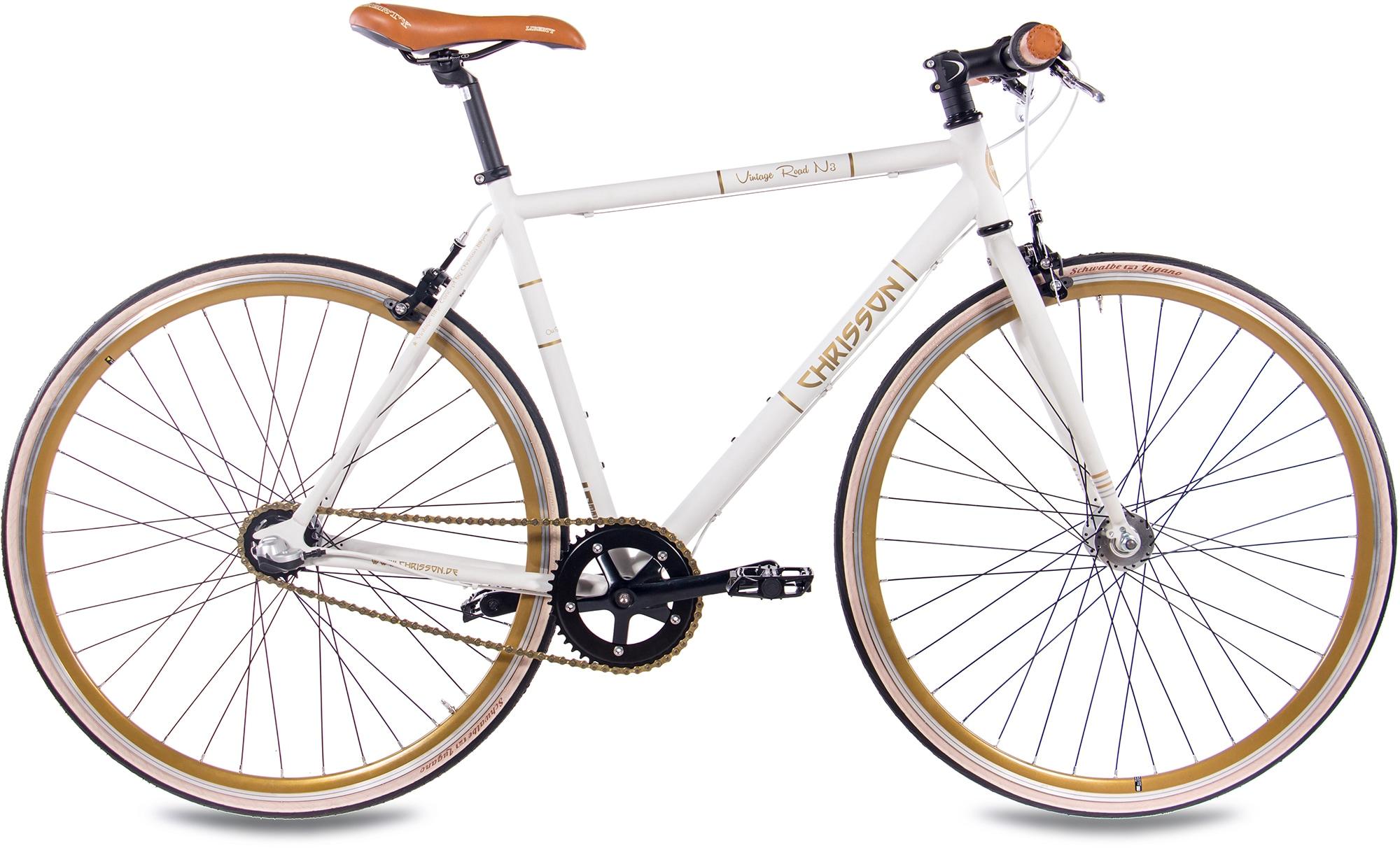 Chrisson Urbanbike Vintage Road N3, Nabenschaltung, (1 tlg.) weiß Crossräder Fahrräder Zubehör Fahrrad