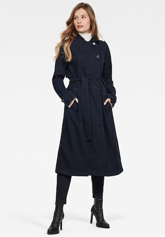 G-Star RAW Trenchcoat »Denim Loose Trenchcoat«, Wintermantel mit passendem Bindegürtel kaufen