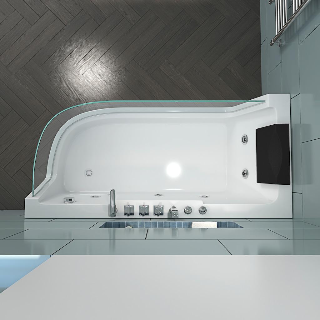 HOME DELUXE Whirlpool-Badewanne »Carica«, B/T/H: 170 / 80 / 59 cm