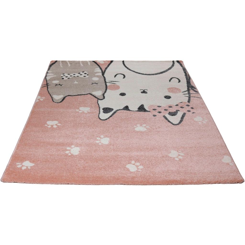 Kinderteppich, »Cats«, Living Line, rechteckig, Höhe 12 mm, maschinell gewebt