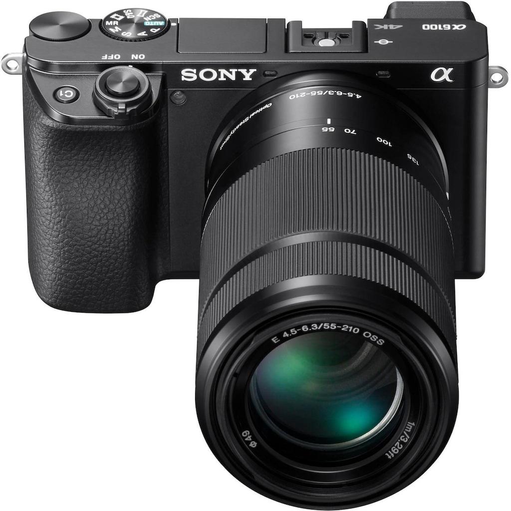 Sony Systemkamera »Alpha 6100 Kit mit SELP1650 + SEL55210«, SELP1650, SEL55210, NFC-Bluetooth-WLAN (Wi-Fi)