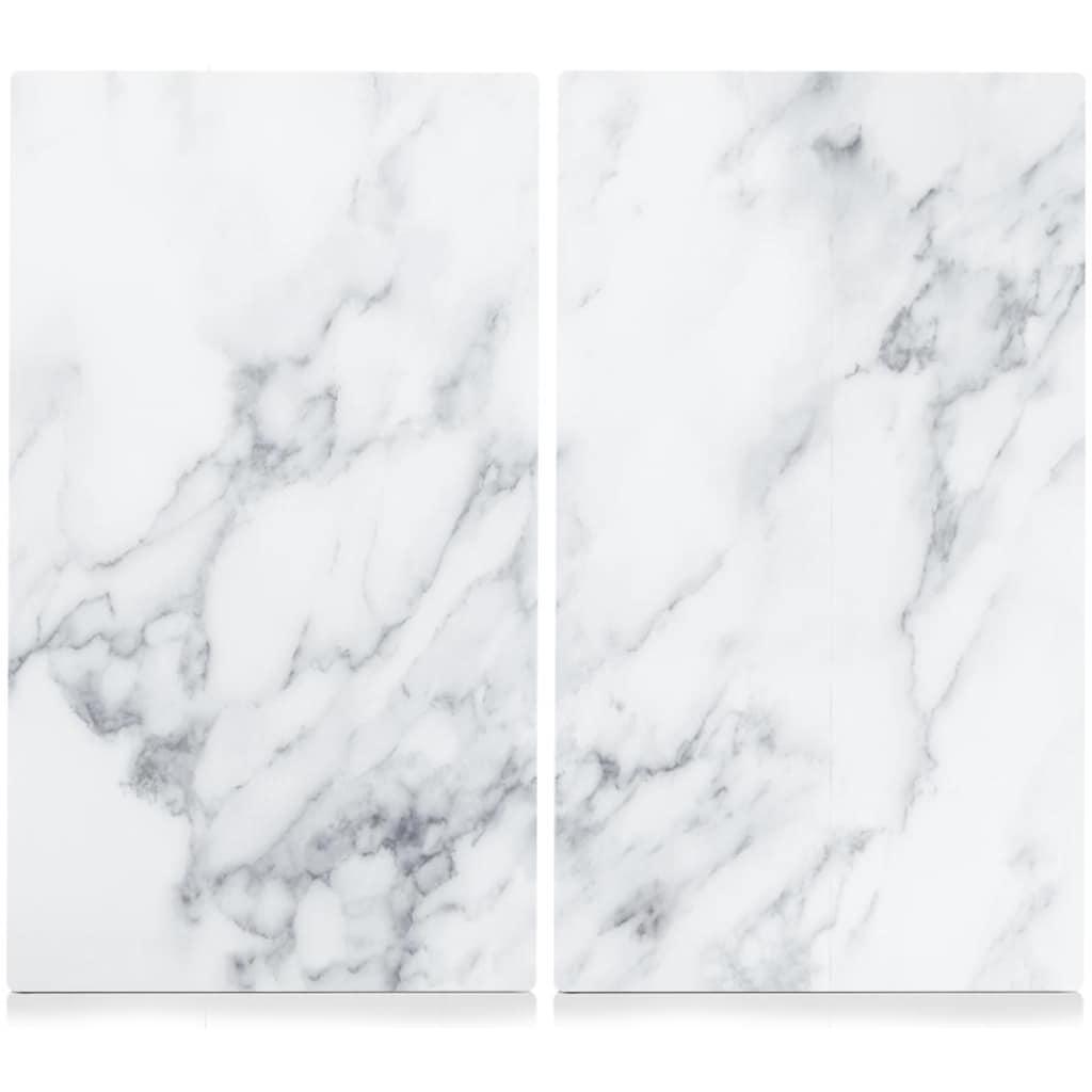 Zeller Present Schneide- und Abdeckplatte »Marmor«, (Set, 2 tlg.), Hitzebeständig bis 220/240°C