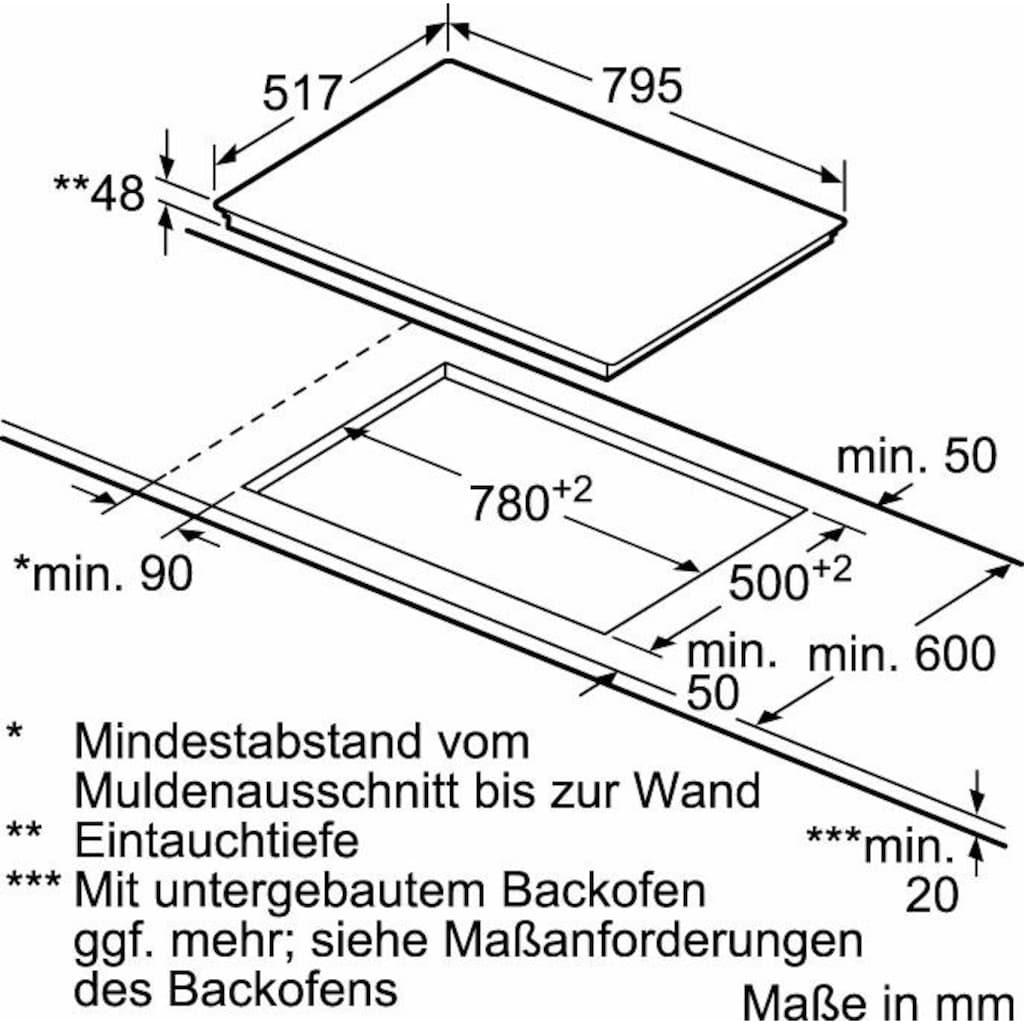 NEFF Elektro-Kochfeld von SCHOTT CERAN® »T18BD36N0«, T18BD36N0, mit TouchControl-Bedienung