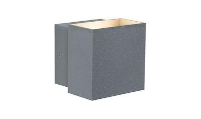 Paulmann LED Außen-Wandleuchte »Cybo eckig 100x100 mm 2x3W grau«, 1 St., Warmweiß kaufen