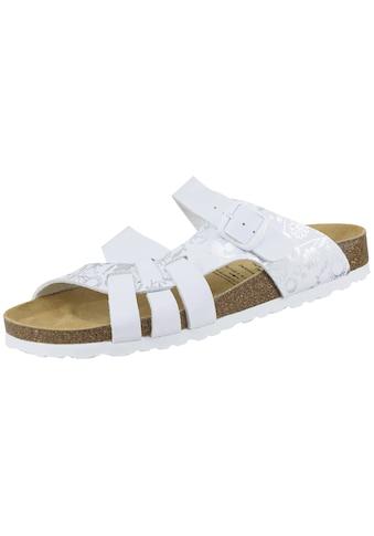 Sandale »560051«, Bioline Pantolette weiß/silber kaufen