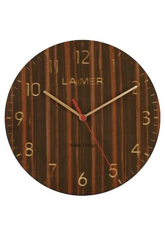 LAiMER Wanduhr »Wanduhr aus Sandelholz, schleichende Sekunde« kaufen
