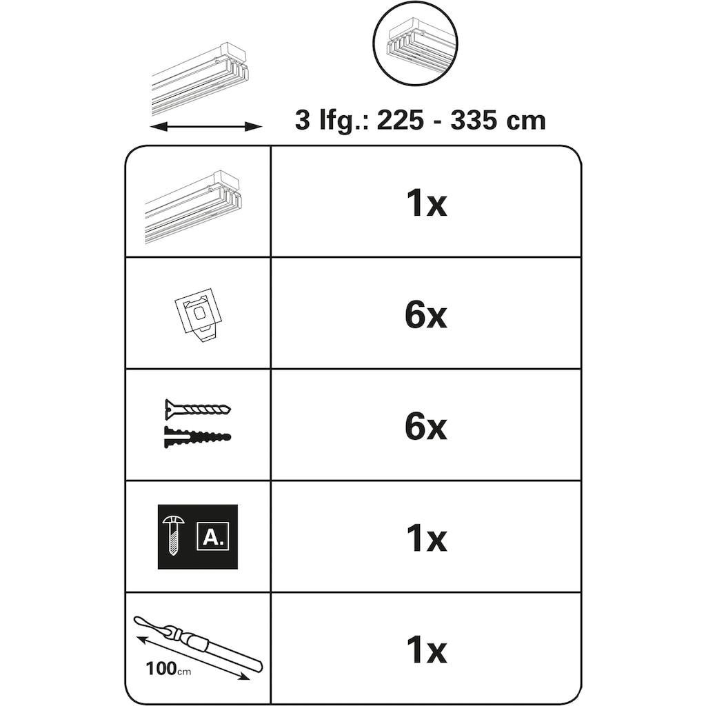 GARDINIA Flächenvorhangschiene »Emia Komplett Set«