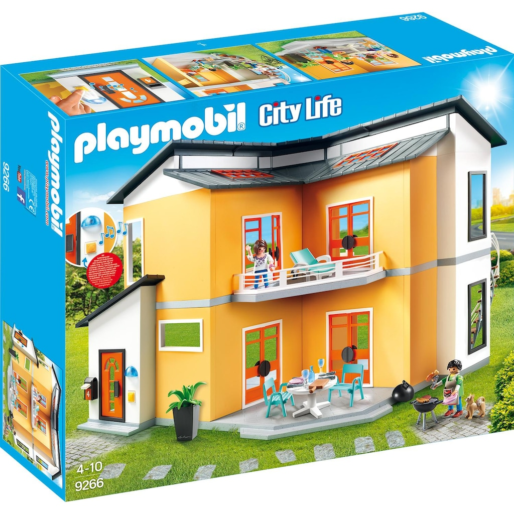 Playmobil® Konstruktions-Spielset »Modernes Wohnhaus (9266), City Life«, Made in Germany