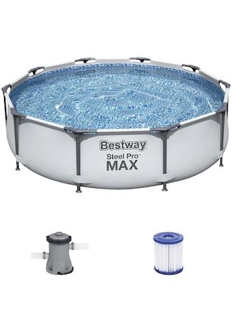 Bestway Rundpool »Steel Pro MAX™ Frame«, (Set), ØxH: 305x76 cm kaufen